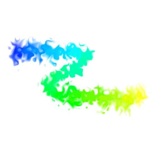 Enzoma - flammender Farbblitz gelb-blau - Männer Premium T-Shirt