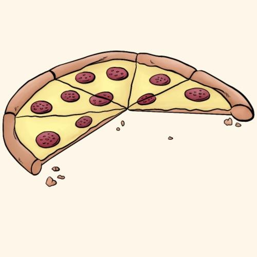 Pizza für Eltern-Baby-Partnerlook mit 3 Kindern - Männer Premium T-Shirt
