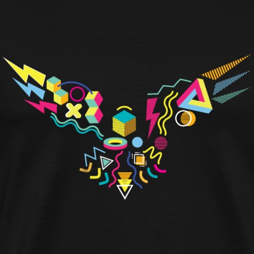 Memphis Style 80s Eagle - Men's Premium T-Shirt