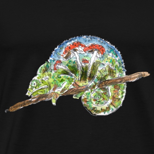 Chamäleon / Pilze - Männer Premium T-Shirt