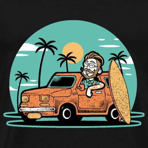 Hipster Surfer - Männer Premium T-Shirt