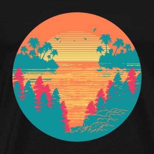 Tropischer Sonnenuntergang - Männer Premium T-Shirt