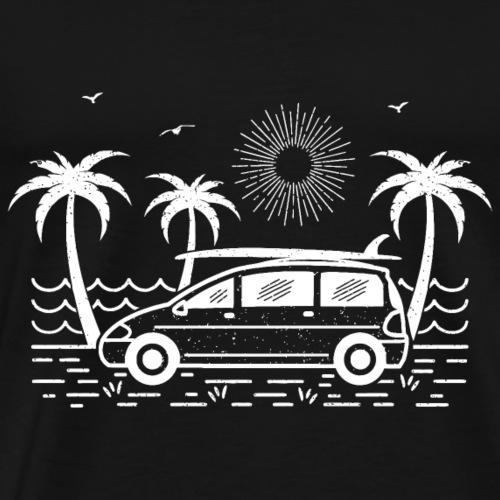 Surfbus (dunkler Hintergrund) - Männer Premium T-Shirt