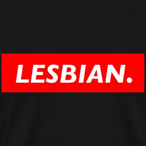 LESBIAN. - Mannen Premium T-shirt