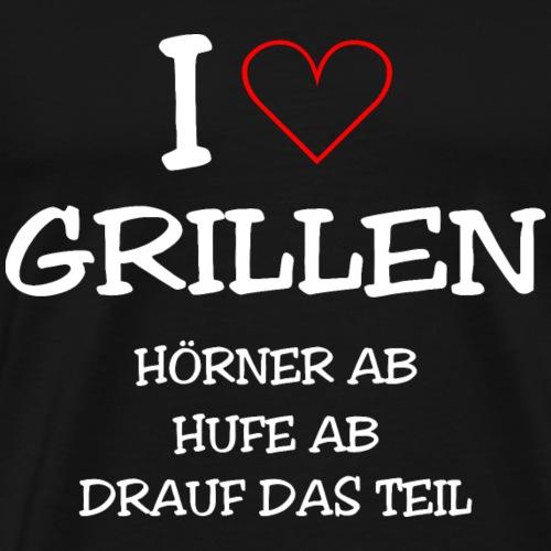 GRILLEN: BBQ IST ETWAS ANDERES Ich liebe grillen - Männer Premium T-Shirt