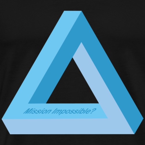 Mission Impossible (Blue-Triangle-Edition) - Männer Premium T-Shirt