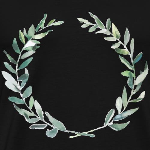 Oliven Krone - Männer Premium T-Shirt