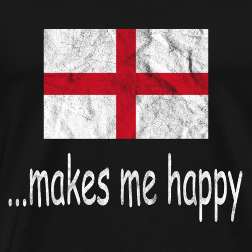 England Fussball Shirt Makes Me Happy - Männer Premium T-Shirt