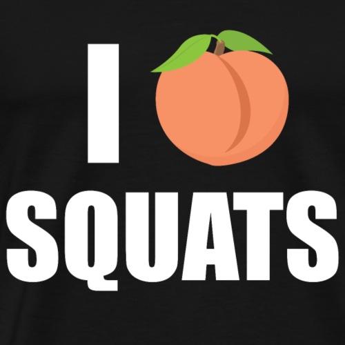 I LOVE SQUATS - Fitness T-Shirt - Geschenkidee - Männer Premium T-Shirt