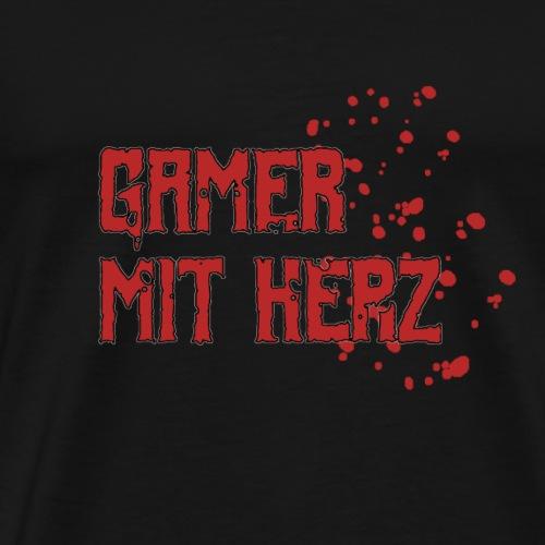Gamer mit Herz - Männer Premium T-Shirt