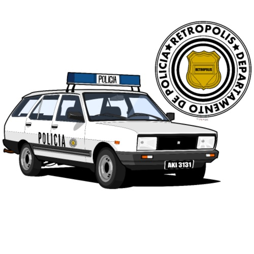 Coche patrulla - Camiseta premium hombre