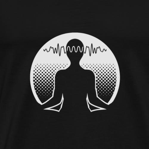 Meditation (dunkler Hintergrund) - Männer Premium T-Shirt