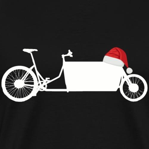 Lastenrad mit Nikolaus Mütze - Männer Premium T-Shirt
