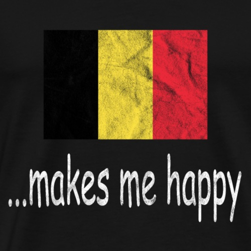 Belgien Fussball Shirt Makes Me Happy Belgique - Männer Premium T-Shirt