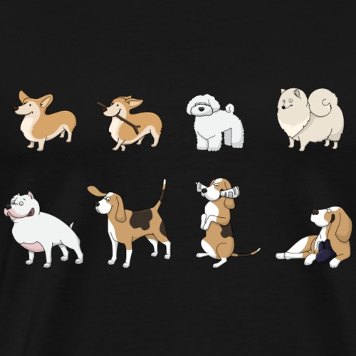 Hunde (-haufen) - Männer Premium T-Shirt