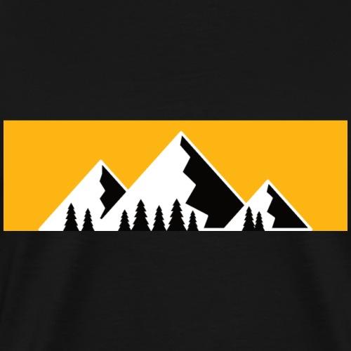 Bergshirt Black & Yellow - Männer Premium T-Shirt