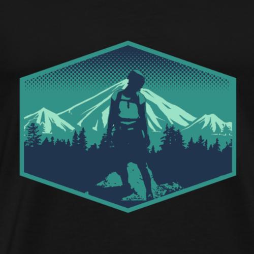 Bergsteigerin - Männer Premium T-Shirt