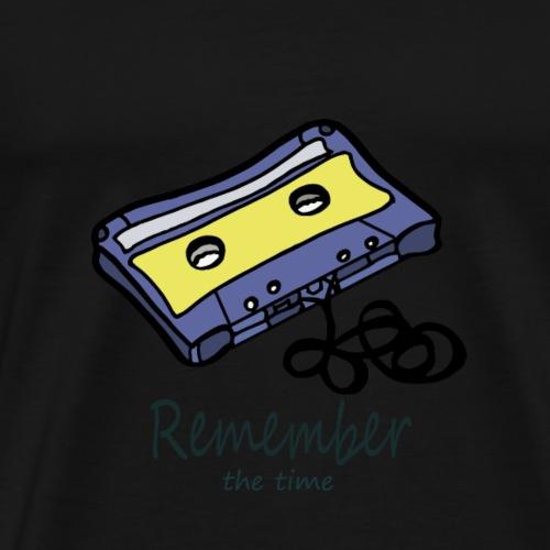 1RememberKassetteSchr D - Männer Premium T-Shirt