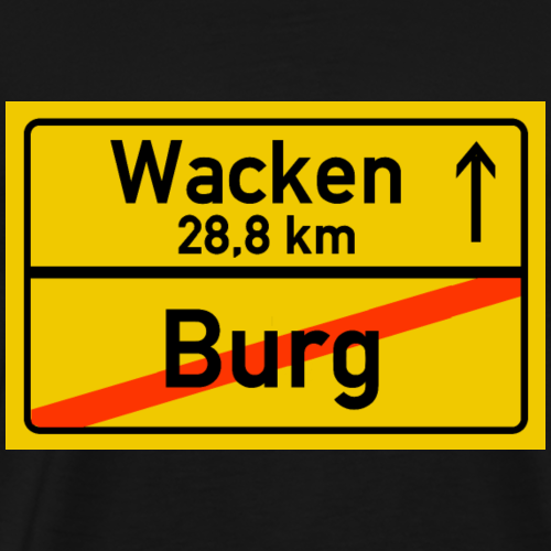 burg ballern - Männer Premium T-Shirt