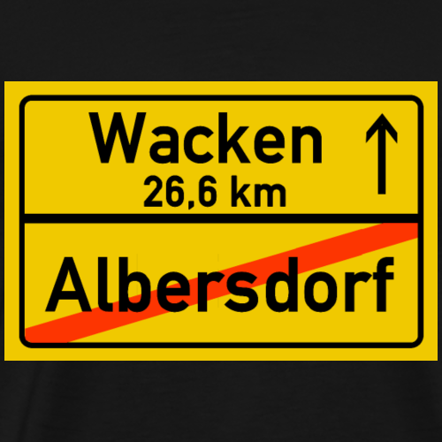 albersdorf ballern - Männer Premium T-Shirt