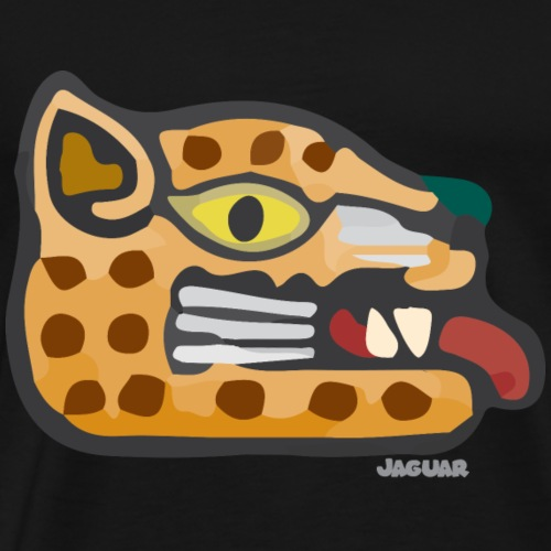Aztec Icon Jaguar - Men's Premium T-Shirt