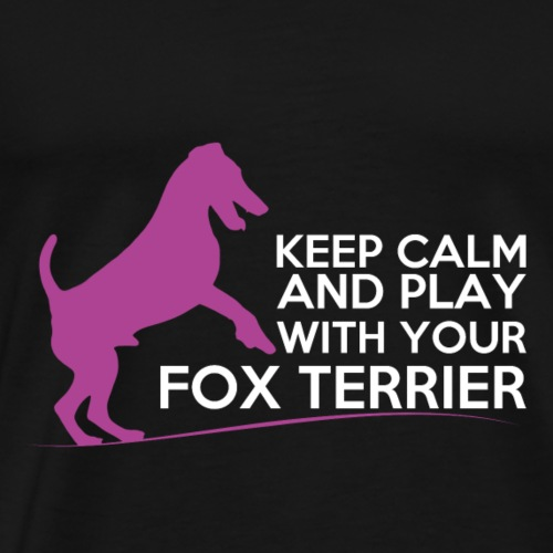 FOX KEEP CALM WHITE PINK - T-shirt Premium Homme