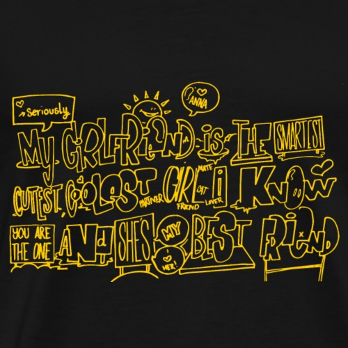 warm yellow - Herre premium T-shirt