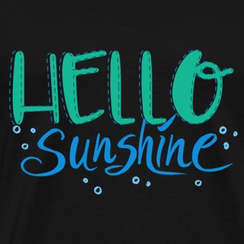 Hello Sunshine blue - Männer Premium T-Shirt