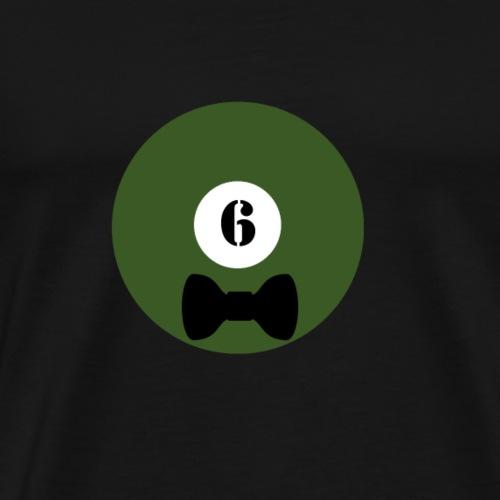 Billard Sechs Schleife Junggesellenabschied JGA - Männer Premium T-Shirt