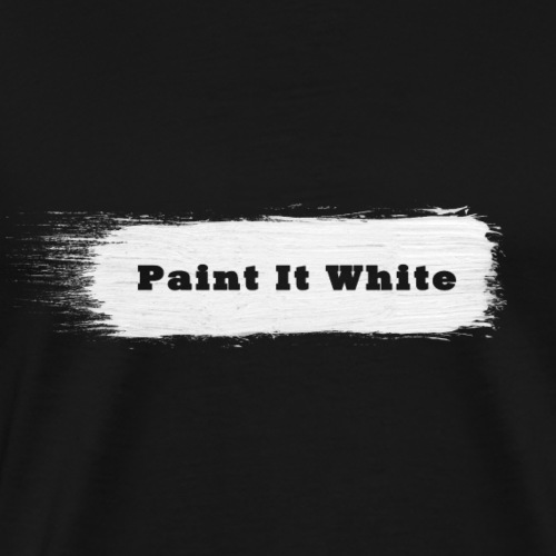 Paint It White - Männer Premium T-Shirt