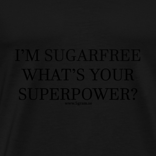 SUGARFREE SUPERPOWER BLACK - Premium-T-shirt herr