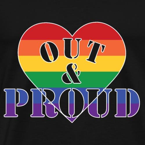out proud2 - Männer Premium T-Shirt