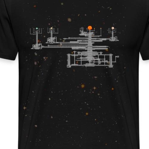 Planetarium Zonnestelsel Aarde Maan Planeten Shirt - Mannen Premium T-shirt
