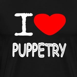 I LOVE PUPPETRY - Männer Premium T-Shirt