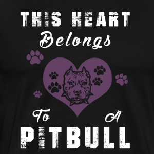 the hear belongs to a pitbull - Männer Premium T-Shirt