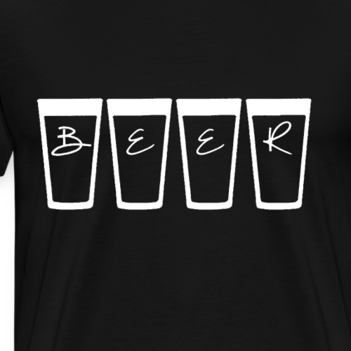 Das populäre BEER oder auch Bier. Schlicht - Männer Premium T-Shirt