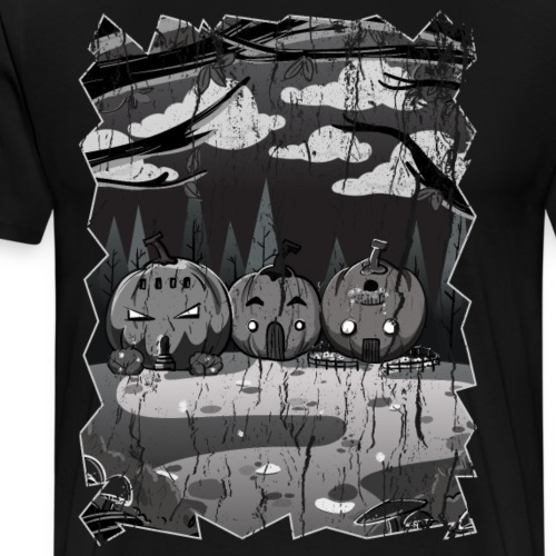 Black And White Spoky Place - Men's Premium T-Shirt