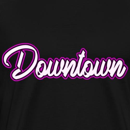 Downtown neon pink - Männer Premium T-Shirt