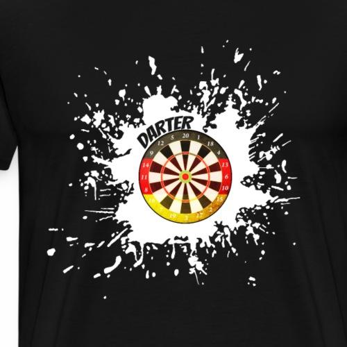 Dart Farbklecks - Männer Premium T-Shirt