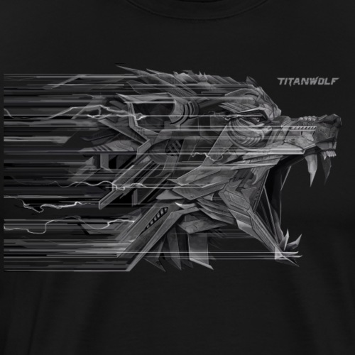 Titanwolf-Lightning Illustration - Männer Premium T-Shirt