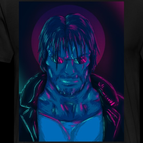 Seekers - Synthwave Samuel. - Männer Premium T-Shirt