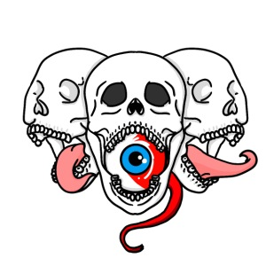 Tri-skull - Men's Premium T-Shirt