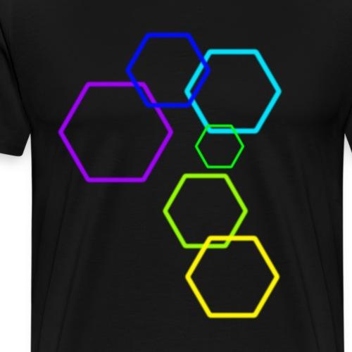 Das Konstrukt [Hexagon] - Männer Premium T-Shirt