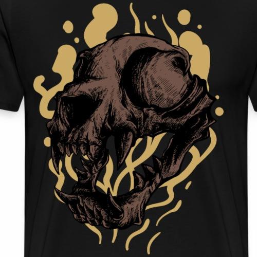 Cat Skull - Miesten premium t-paita