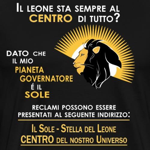 Leone Zodiaco   Centro del nostro universo - Maglietta Premium da uomo