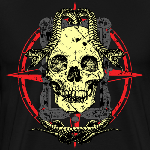 Skull and Snakes - Männer Premium T-Shirt