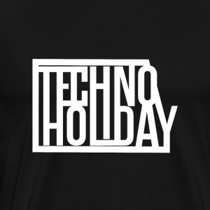 Techno Holiday - Premium T-skjorte for menn