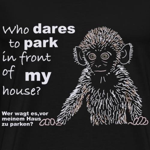 Affe am Fenster auf Englisch - Männer Premium T-Shirt