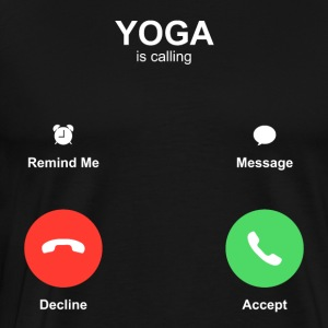 YOGA Call - Herre premium T-shirt