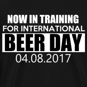 Training for international BEER DAY - Men's Premium T-Shirt